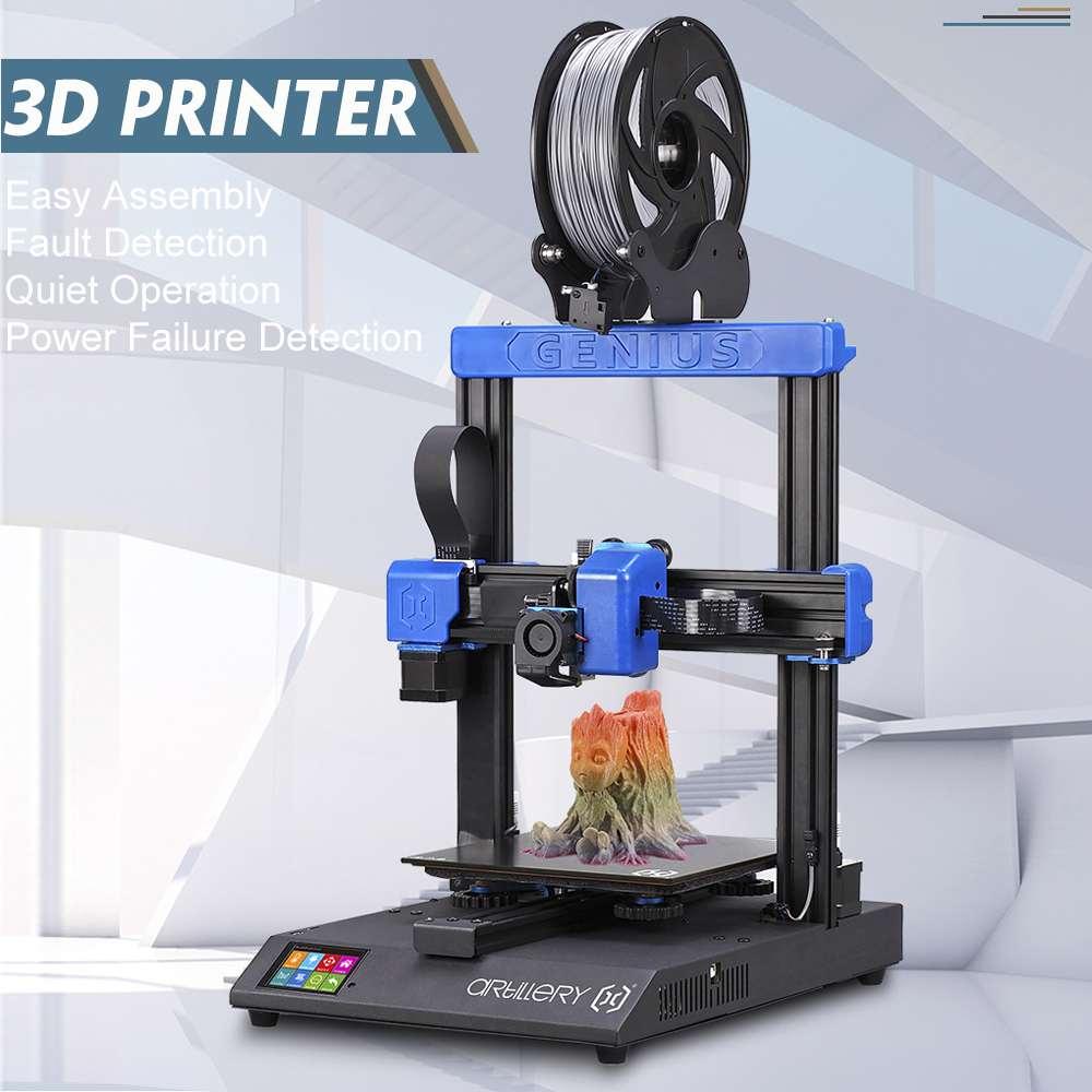 Artillery Genius 3D Printer DIY Kit High-precision dual z-axis Ultra-Quiet Stepper Motor TFT Touch Screen Power failure function