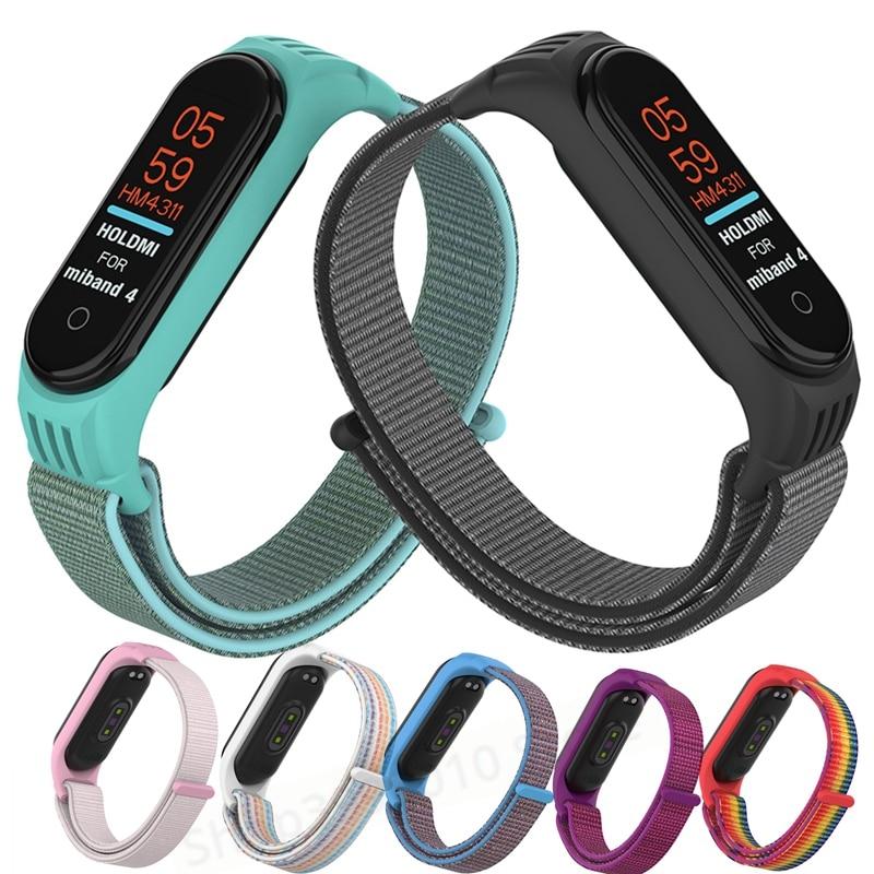 Сменный нейлоновый ремешок для xiaomi mi 3 4 нейлоновый браслет цветной спортивный браслет умные часы mi Band 3 band 4 розовый ремешок|Смарт-аксессуары|   | АлиЭкспресс