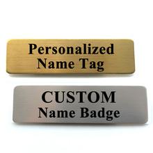 Nazwa Tag niestandardowe grawerowane z nazwą pozycji odznaka z broszka Pin ID nazwa Tag odznaka tanie tanio Roggwil CN (pochodzenie) STAINLESS STEEL Broszki rectangle Name Tag 01 Szpilki Moda Unisex Klasyczny