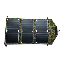 SUNPOWER 20 Watt Portable Folding Solar Panel Charger for iPad/Tablets/Mobile Phones/Smart Phones/iPhone 5/6/6 plus 2xUSB Out цена