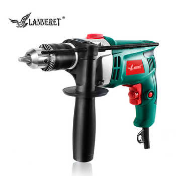 LANNERET 710W Electric Drill Hammer Drill Impact Drill Multi-function Adjustable Speed Woodworking Power Tool - DISCOUNT ITEM  44% OFF All Category