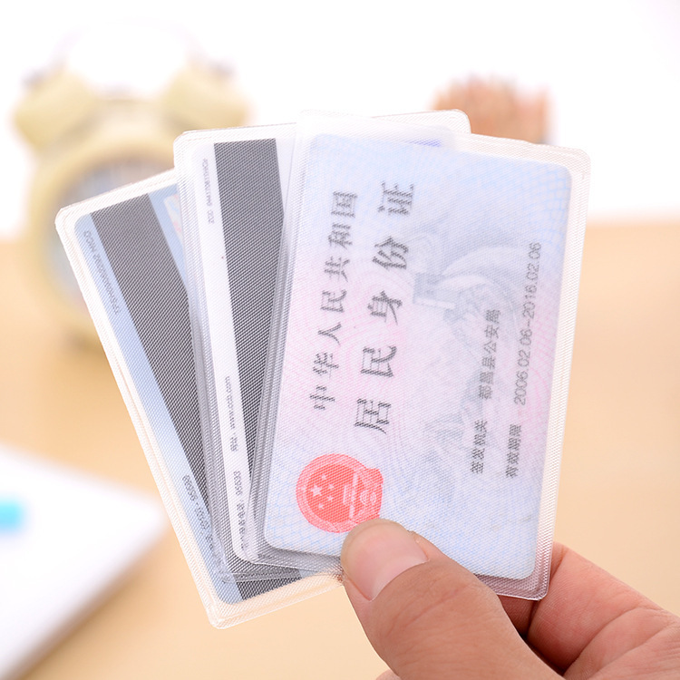Card Holder Identity Card Cover Students Bus Card Protective Case Meal Card Bank Card Holder Antimagnetic Certificate Holder Tra