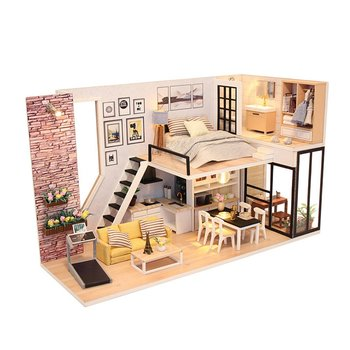 Doll House Furniture DIY Miniature 3D Wooden Miniature Dollhouse Toys For Children Birthday Gifts