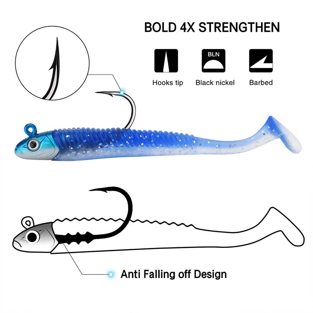 Goture 5 قطعة لينة إغراء 20 جرام 10.8 سنتيمتر طعم سمك طعوم صيد سمك البلمة الطعم الاصطناعي بايك الصيد Wobblers كل ل أدوات صيد