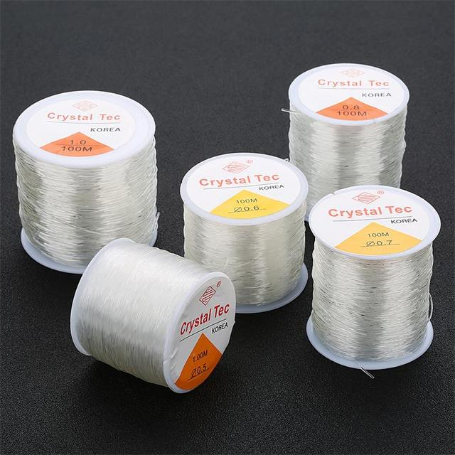 100M/Roll Plastic Crystal DIY Beading Stretch Cords Elastic Line Jewelry Making Supply Wire String jeweleri thread String Thread 1