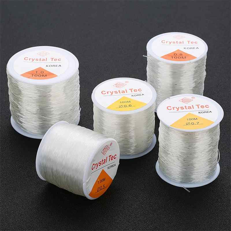 100M/Roll Plastic Crystal Diy Kralen Stretch Cords Elastische Lijn Sieraden Maken Supply Wire String Jeweleri Discussie String draad
