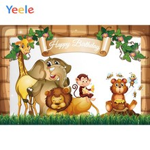 Yeele Baby Shower Birthday Party Cartoon Animals Photography Backdrops Personalized Photographic Backgrounds For Photo Studio