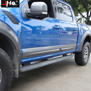 Image 2 - JHO Truck Door Anti scratch Panel Cover Trim For 4 Door Ford F150 2017 2019 Raptor 2018 Pickup Styling Protective Accessories