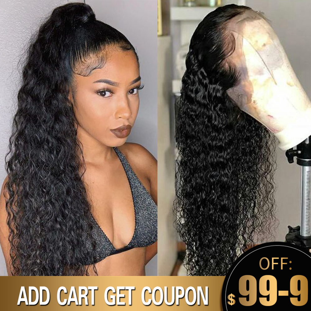 Curly Wig 360 Lace Frontal Wig Pre Plucked With Baby Hair Brazilian Deep Part 13x6 Lace Front Human Hair Wigs Aimoonsa Remy