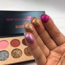 Beauty Glazed 10 Shades Pigmented Eye Shadow Makeup Eyeshadow Palette Glitter Shimmer Matte Warm Color Eyeshadow Pallete