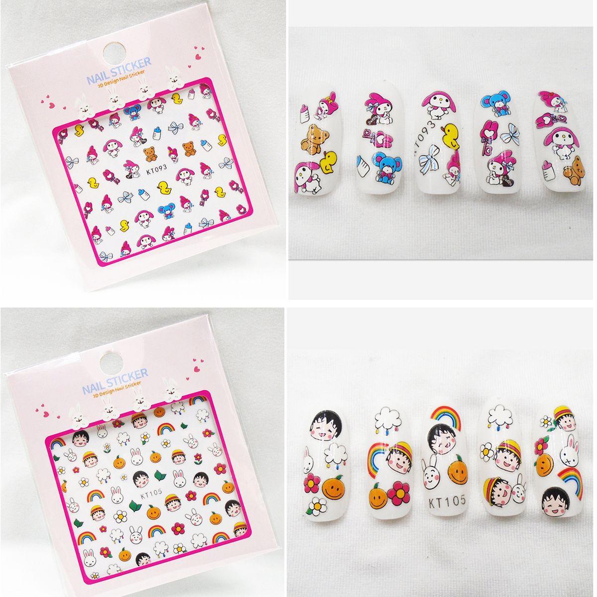 Kt091-105 New Style Chibi Maruko Cartoon Bunny Nail Sticker