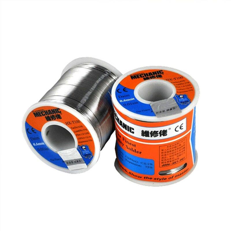 MECHANIC 500g Solder Silk low Temperature Rosin Flux 0 5 0 6 0 8 1 0mm Low Meltingl Point Solder Wire Soldering Tin BGA Welding