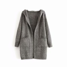 Knitted Sweaters Open Stitch Women V-Neck Spring and Autumn Long Coat Sleeve Tops Ladies Loose Outwear