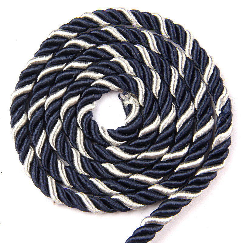 1m/Bag 3 Shares Twisted Cords Twisted Cotton Black Blue Rope For Bag Clothes Pillow DIY Home Decoration Rope Accessories