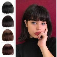 Above eyebwors bangs Human hair Bangs Non-Remy Hair clip in hair extensions brazilian Human Hair Wigs Hair Pieces hair Bangs