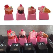 Cake-Ice-Cream Mechanical-Keyboards Pbt Keycap Pink Cute DIY 1pc for R4-Height/children's