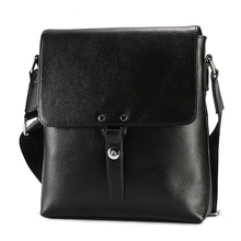 Genuine Leather Men Bag Casual Business Man Shoulder Crossbody Bags Cowhide Large Capacity Travel Messenger Black New