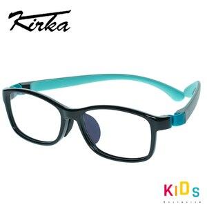 Image 2 - Çocuklar gözlük TR90 esnek gözlük çerçevesi çocuk siyah çocuklar optik gözlük erkek gözlük spor gözlük çocuk gözlük