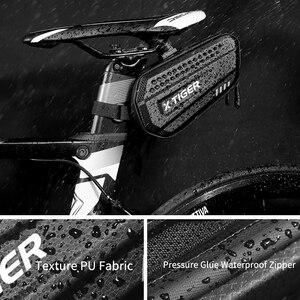 Image 3 - Sac de selle de vélo résistant à la pluie, pour vtt, tige de selle arrière de grande capacité, antichoc, accessoires de bicyclette, X TIGER