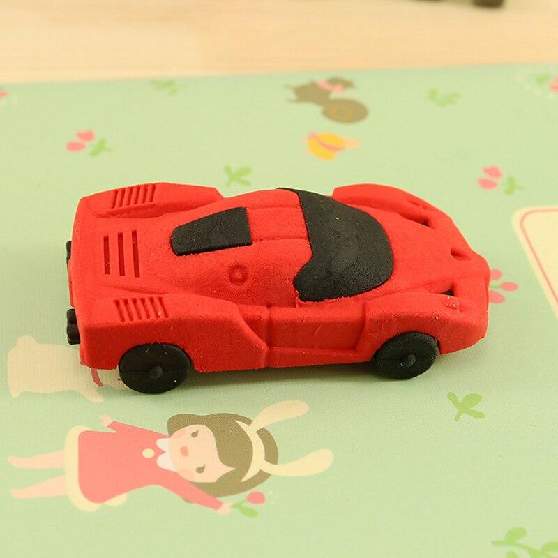 3pcs Super Cool Kawaii Children Sports Car Eraser Children Rubber School Office Supplies Children Gift