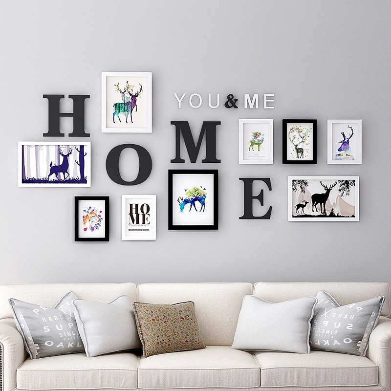 Photo Wall Frame Combination Living Room Home Decoration 5 7 10 Inches Modern Creative European Style Photo Frame Set