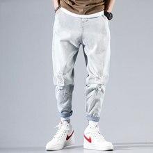 2020 New Brand Jeans Men Famous Blue Trousers Male Denim Straight Cut Fit Pants Hip Hop