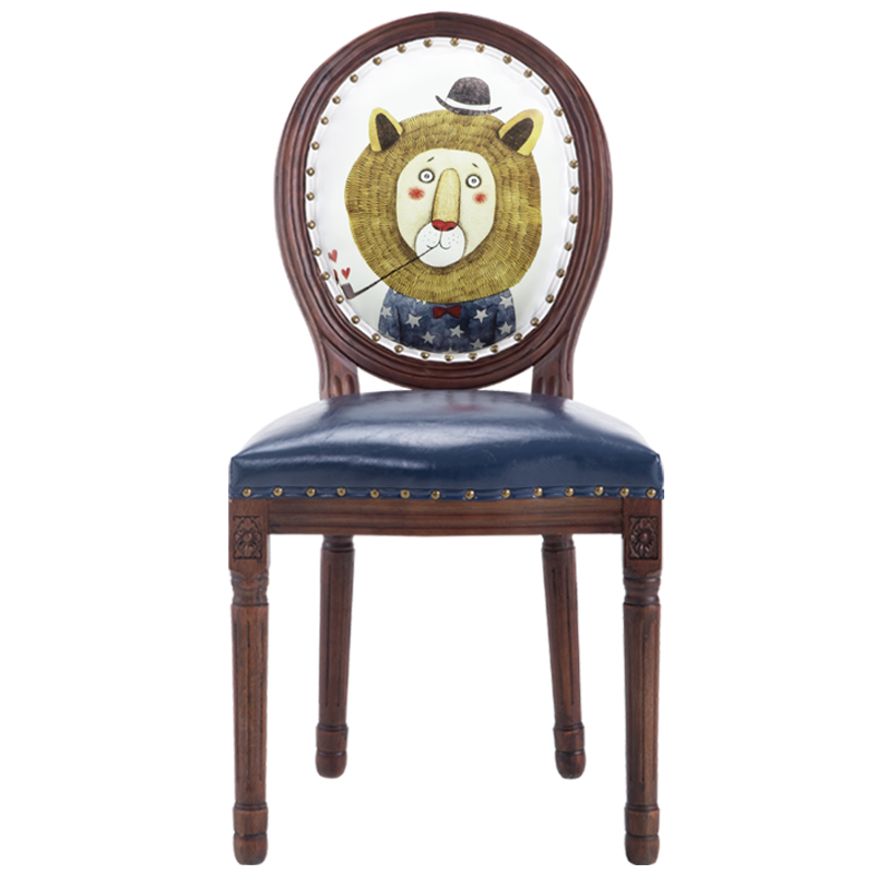 Chaise de salle à manger américaine rétro en bois massif chêne maison nordique fauteuil café club western tissu chaise de loisirs