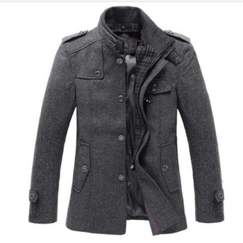 dropshipping New Style Autumn and Winter Jackets Men Wool Jacket men's slim fit thickening Winter coat men Short Trench Jacket