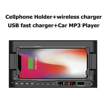 Multifuction Car Cell Phone Holder Speaker Navigator Bluetooth 5.0 Player
