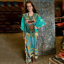 цена на Plus Size Kaftan Dress Tunic Long Maxi Kimono Caftan Gown Nightdress Beach Party Casual Dress