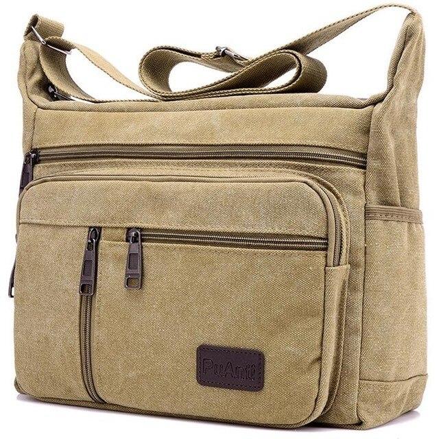 Мужские повседневные холщовые сумки