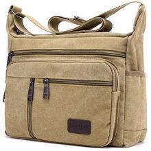 Bolso de hombro de lona para hombre, bandolera informal de viaje, de lujo, a la moda, de alta calidad