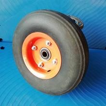 1 Pc 10 Inch 350-4 Solid Rubber Powder Wheel Industrial Silent Trolley Tiger Car Eccentric Manufacturer
