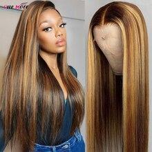 Парик Из прямых человеческих волос, 13 х4, 180 плотность, 4 х4