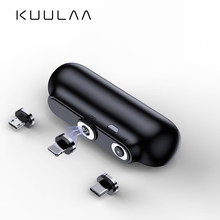 KUULAA Magnetic Power Bank 2600mAh Mini Magnet Charger PowerBank For Xiaomi Emergency Mobile Portable Magnetic External Battery(China)