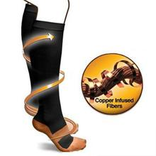 1Pair Anti-Fatigue Compression Socks Slimming Unisex Foot Pain Relief Fat burning socks Magic Socks Support Knee High Stockings