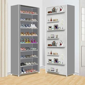 Нетканый Тканевый шкаф для хранения обуви минималистичный современный простой монтаж Гостиная обувь Органайзер мебель пылезащитный шкаф ...