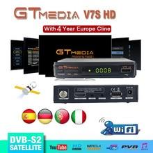 DVB S2 Gtmedia V7S HD satelitarny odbiornik TV 1080P odbiornik HD Freesat v7 hd z USB WIFI wsparcie europa cline przez 4 lata hiszpania
