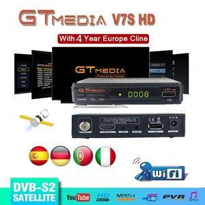 Image 1 - DVB S2 Gtmedia V7S HD satelitarny odbiornik TV 1080P odbiornik HD Freesat v7 hd z USB WIFI wsparcie europa cline przez 4 lata hiszpania