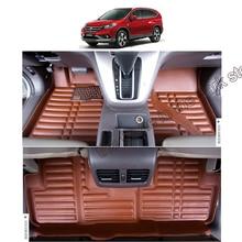 цена на lsrtw2017 leather car floor mats for honda cr-v crv 2012 2013 2014 2015 2016 4th interior accessories carpet rug auto cover foot