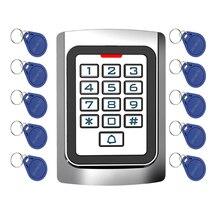 금속 케이스 실리콘 키패드 보안 항목 도어 리더 RFID 125Khz EM 카드 독립 실행 형 액세스 제어 F1331D