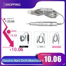 Ponceuse électrique pour les ongles, appareil de manucure, avec fraises, prise USB ue/US, stylo perceuse à ongles, 15000 tr/min