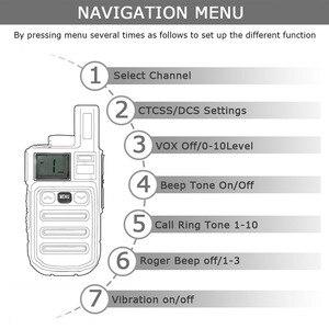 Image 5 - Vibration Reminder Retevis RB615 Mini PMR Walkie Talkie 2pcs PMR446 PMR Radio FRS VOX Handsfree Two way Radio Wireless Cloning
