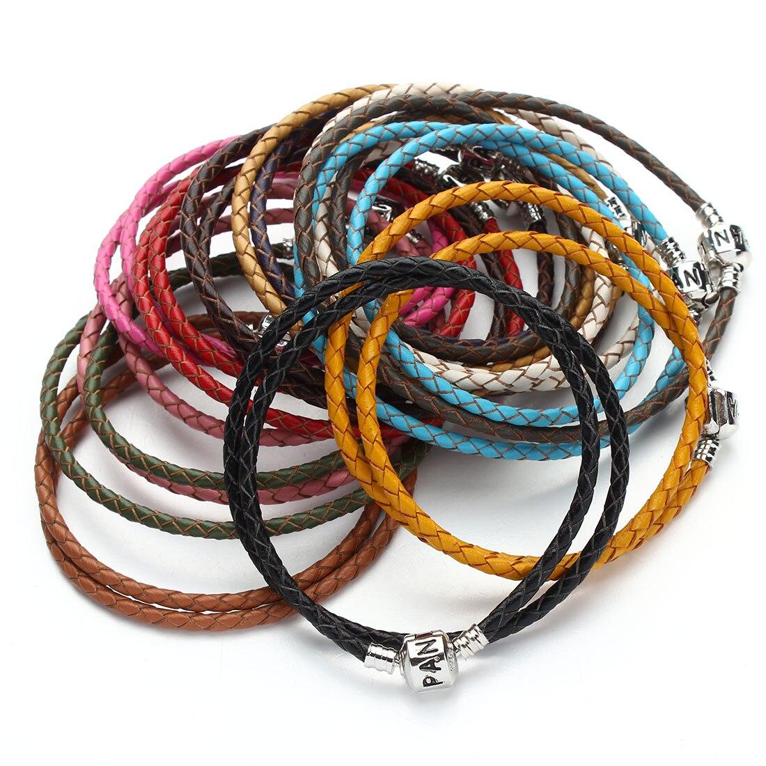 2020 New Fashion Double layer Braided Leather Bracelet Men Women Magnetic Clasps Charm Bracelets Pulseras Male Female Jewelry