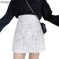 Fashion Winter Women Tweed Skirt Plus Size Skirts for Womens 3XL 4XL 2019 New Korean Style Vintage Bottoming A line