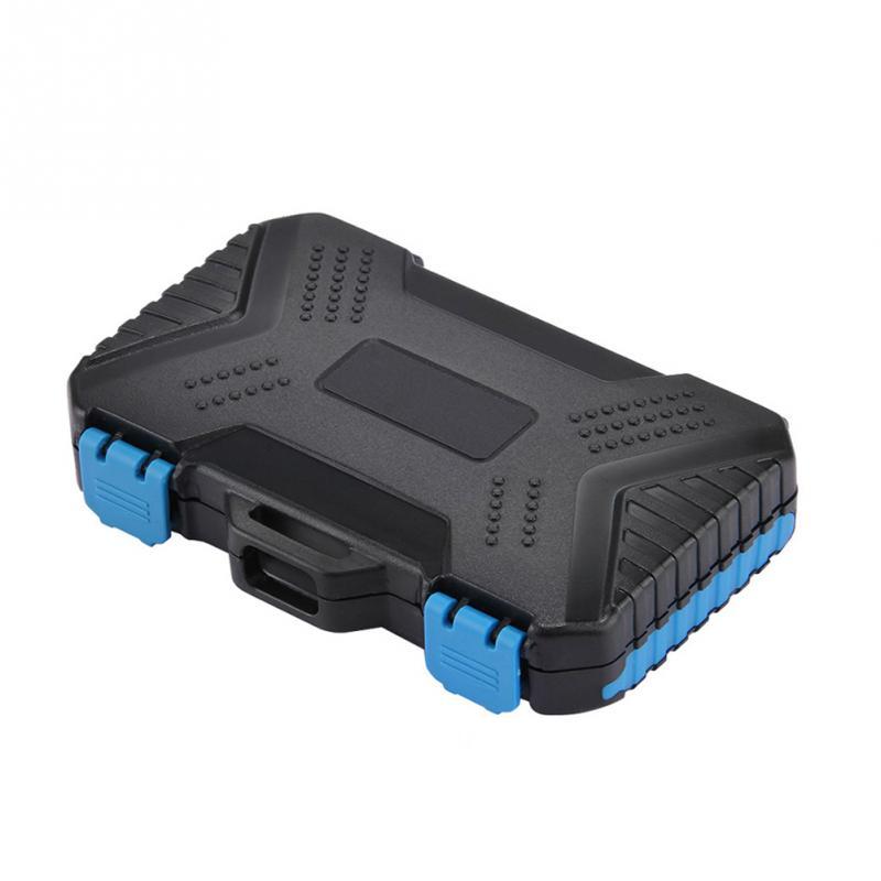 Black Waterproof Camera TF/CF/SD Memory Card Max 27 Cards Storage Case 11.5*7*2.05cm Organizer