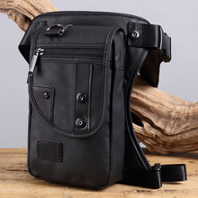 Outdoor Travel Drop Leg Bag Men Fashion Fanny Waist Pack Waterproof Casual Motorcycle Riding Military Thigh Hip Bum Belt Bags men s vintage leather drop leg bag thigh hip bum belt military motorcycle messenger hook fanny pack male waist bags new