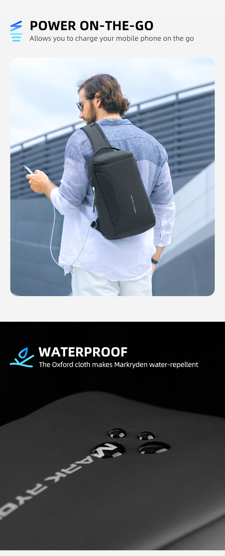 Mark Ryden MR7069 Crossbody Bag 0.6kg Polyester