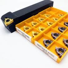 Portaherramientas cilíndrico roscado SER2525M22 SEL2525M22 SER2020K22 sel20k22, 10 Uds., hoja roscada MMT 22ER, piezas de torno