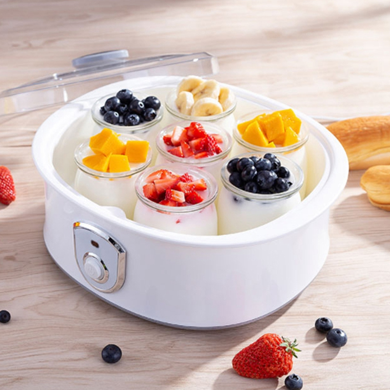 HOT!Electric Yogurt Maker with 7 Cups 1.5L Automatic Universal Stainless Steel Liner Natto Rice Wine Yogurt Machine EU Plug